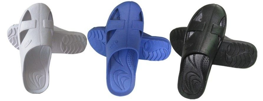 Soft Anti Static Shoes Anti Fatigue Four Hole SPU Slippers For Medicine Industrial