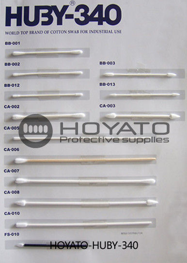 Strong Adsorption Capacity Clean Room Cotton Swabs For Precision Devices